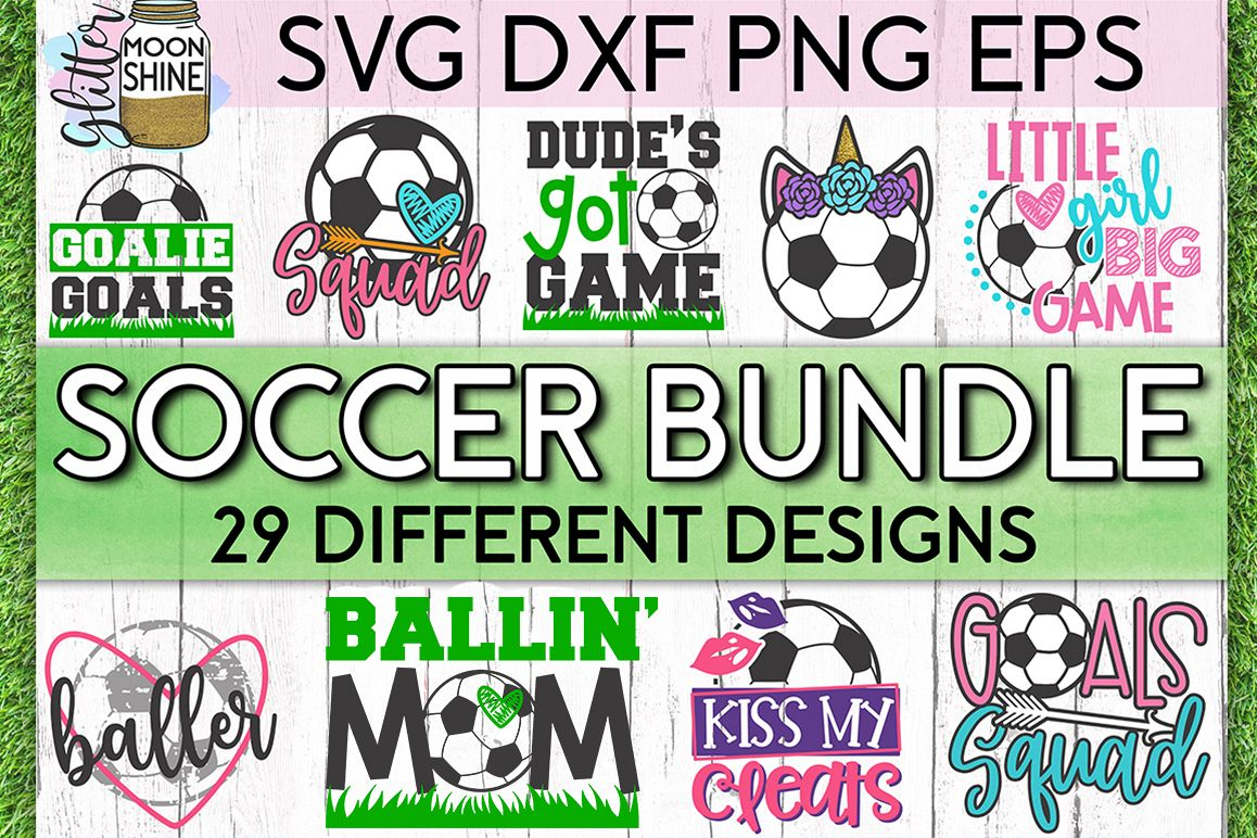 Soccer Star Bundle of 29 SVG DXF PNG EPS Cutting Files example image 1