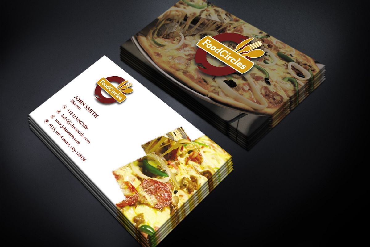 Attractive Restaurant Business Card example image 1
