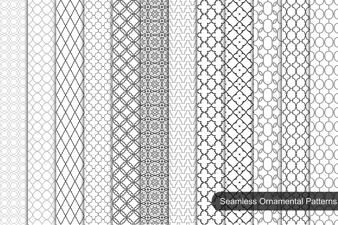 Collection of ornamental patterns. example image 1