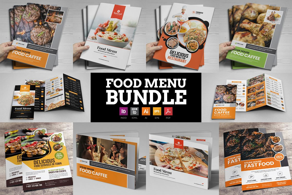 Food Menu Restaurant Brochure Bundle example image 1