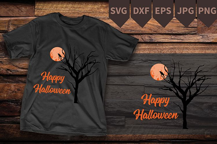Nightmare Before Christmas Svg Tree Moon Svg Digital File