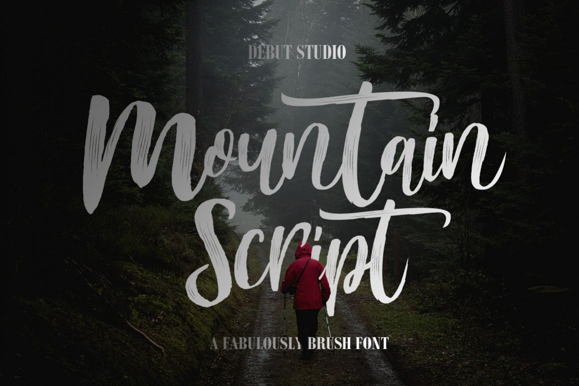 Mountain Script - Brush Fonts example image 1