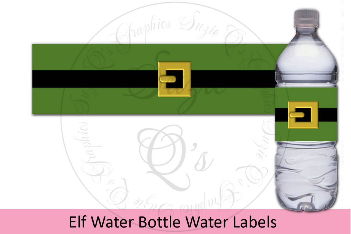 Elf Water Bottle Labels example image 1