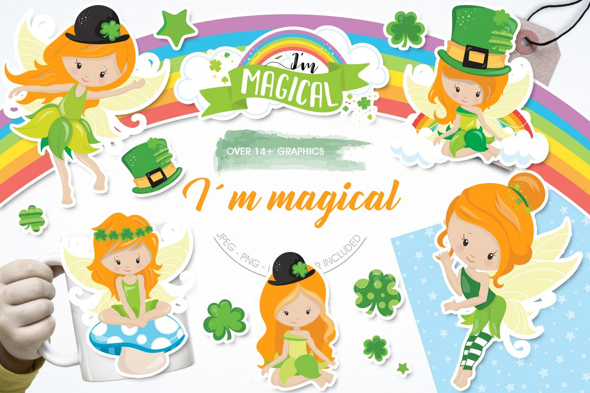 st-patrick fairies graphic and illustrations example image 1