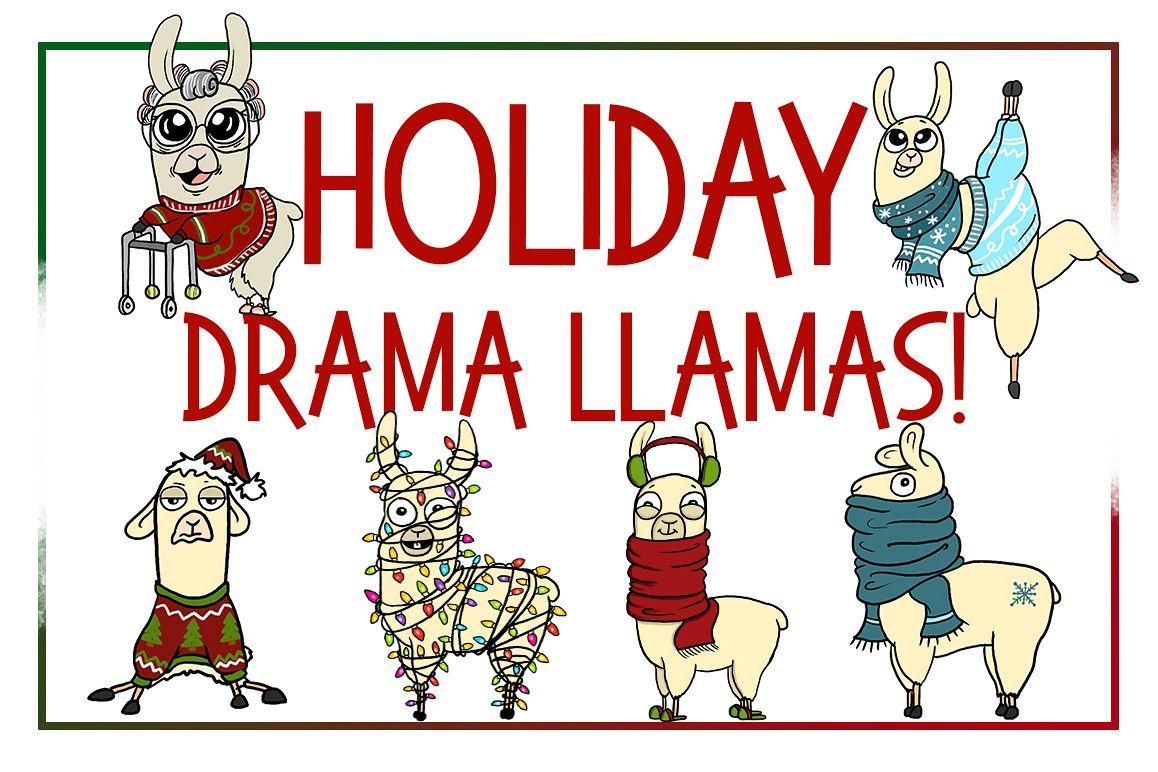 holiday clipart llama clipart xmas clipart cartoon sticker. Black Bedroom Furniture Sets. Home Design Ideas