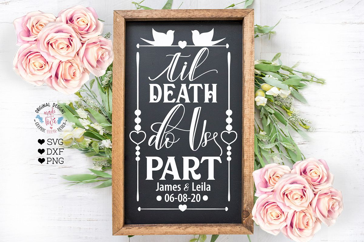 Til Death Do Us Part - Wedding Cut File example image 1