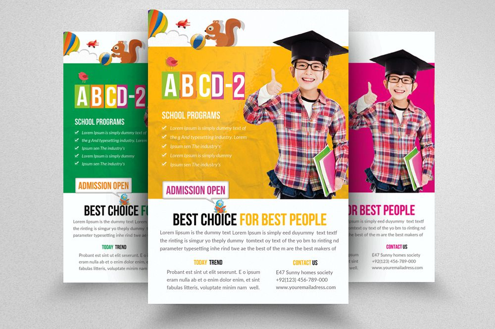 Kids Education Flyer Template example image 1