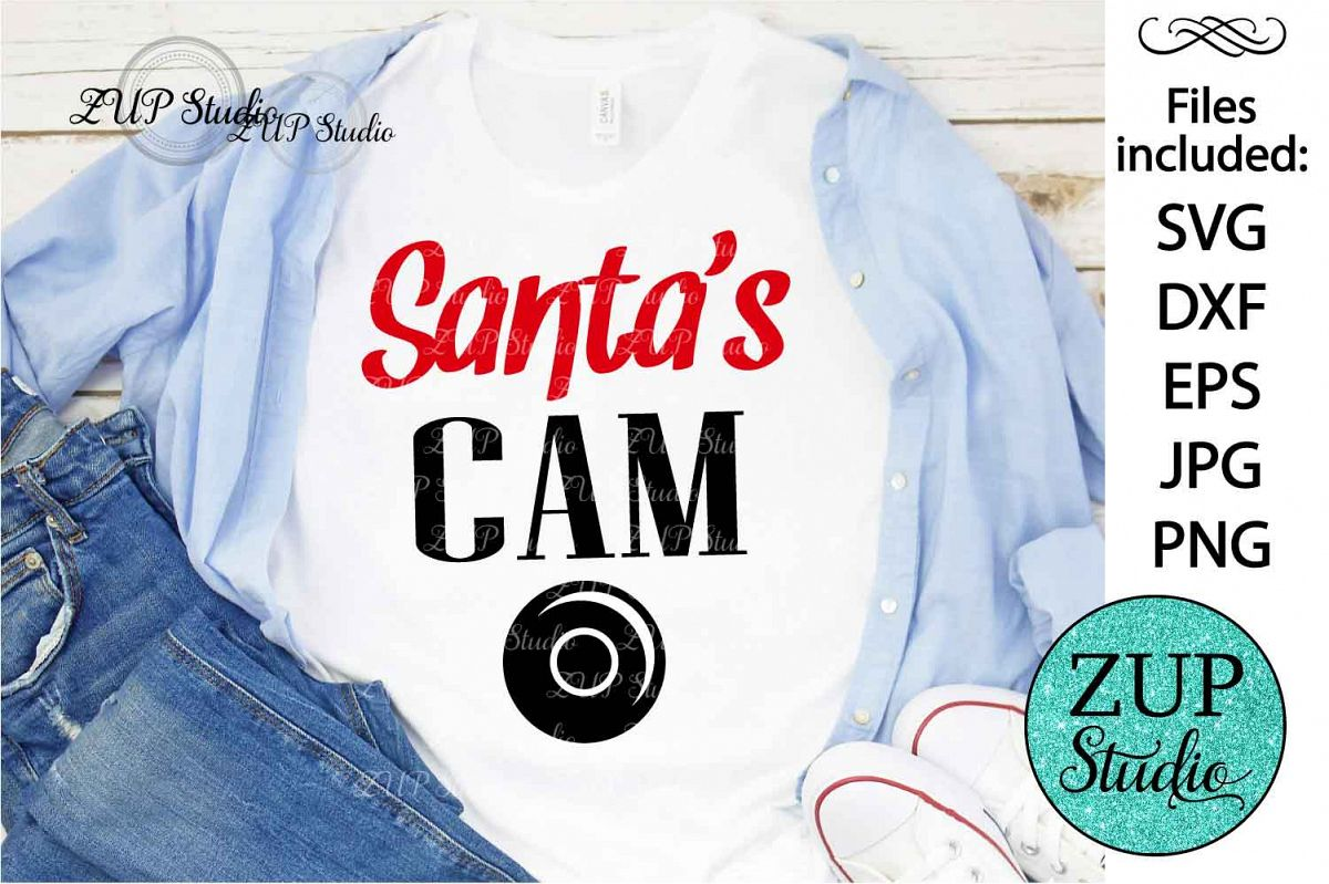 Santa's Cam Digital Cutting files file 124 example image 1