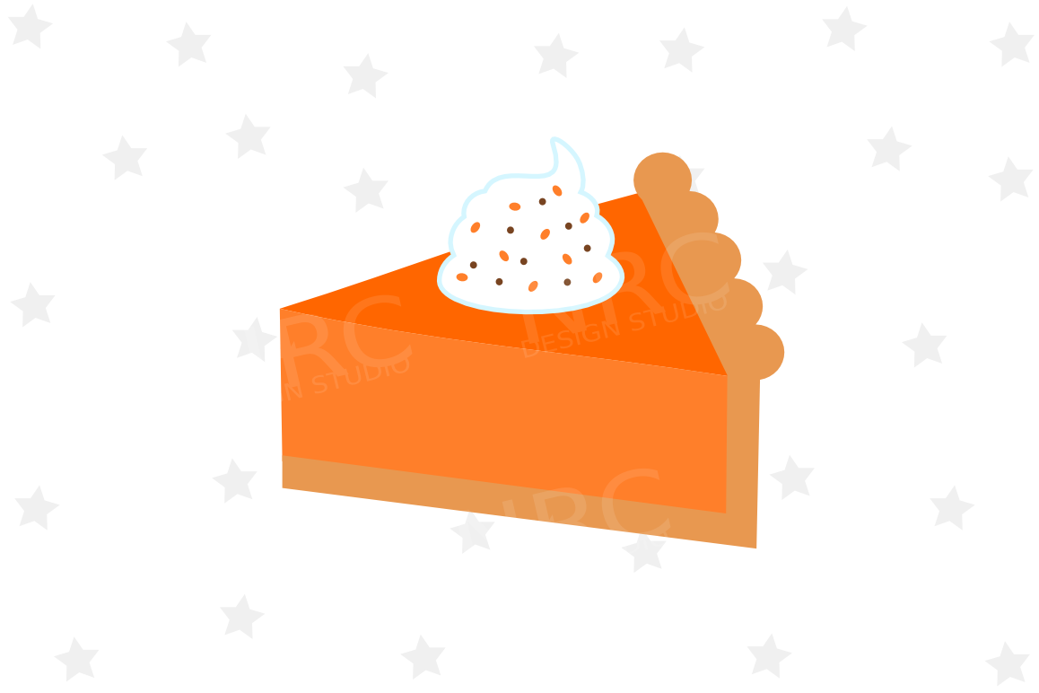 Pumpkin Pie Slice SVG File example image 1