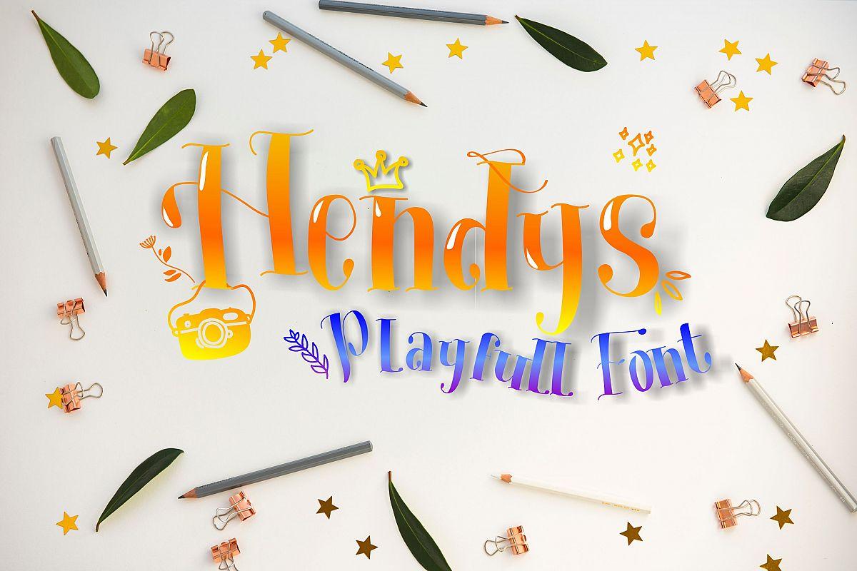 Hendys Playfull Font example image 1