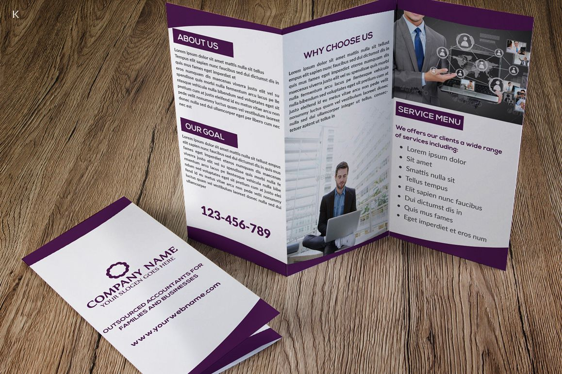 Business Trifold example image 1