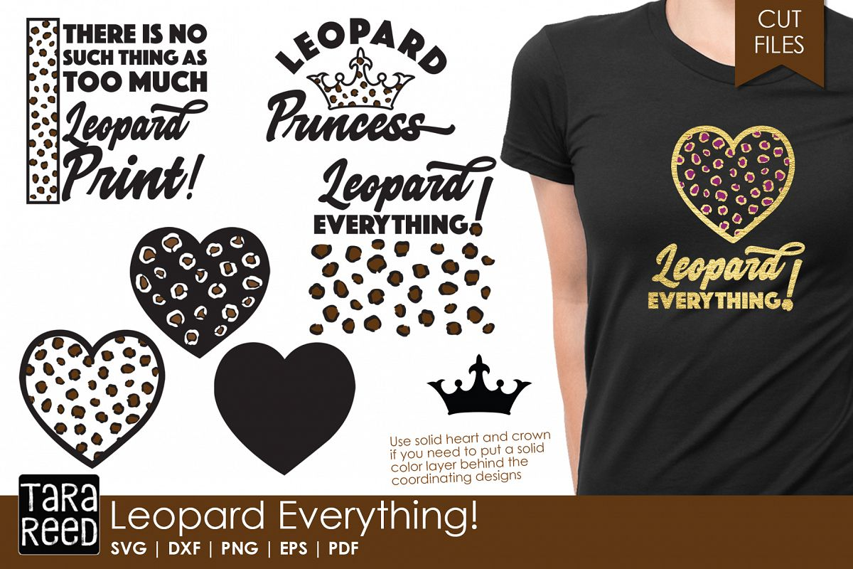 Leopard Everything - Leopard Print SVG and Cut Files example image 1