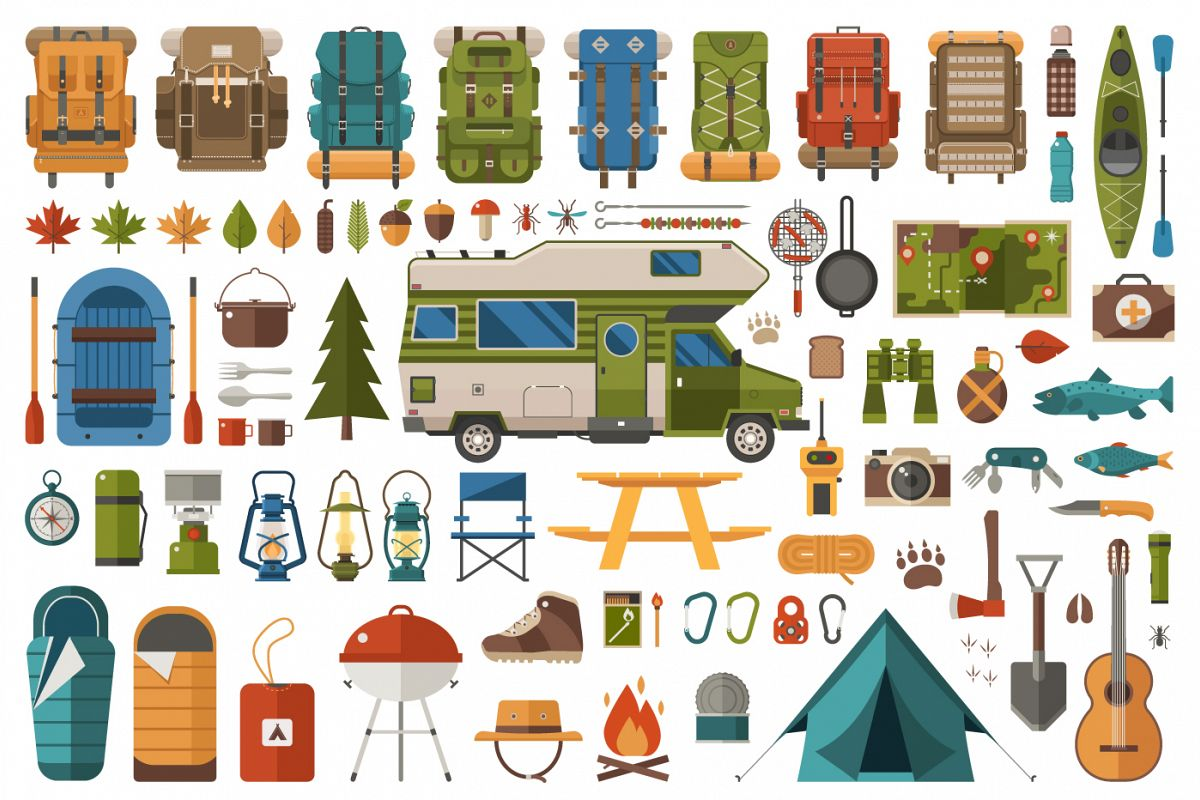 Camping and Hiking Design Elements example image 1
