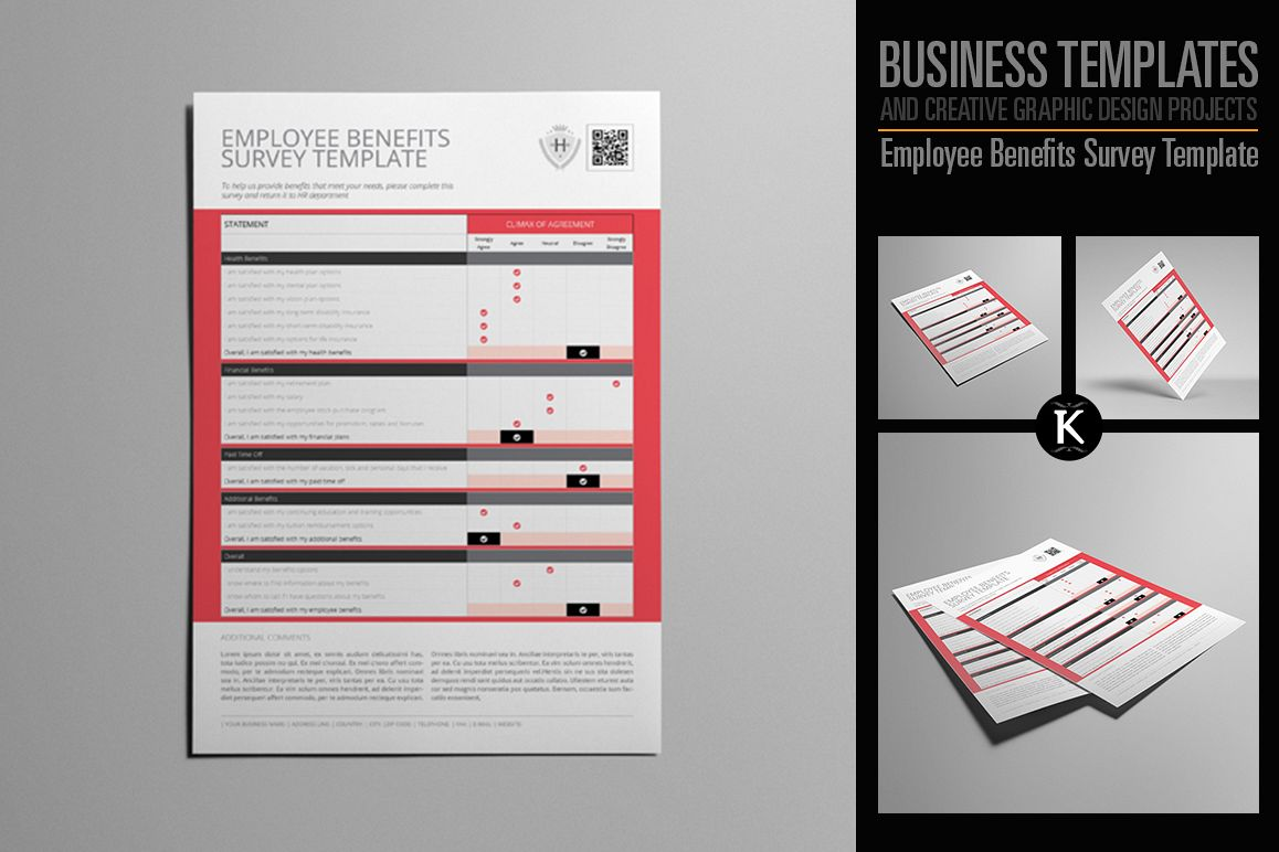Employee Benefits Survey Template example image 1