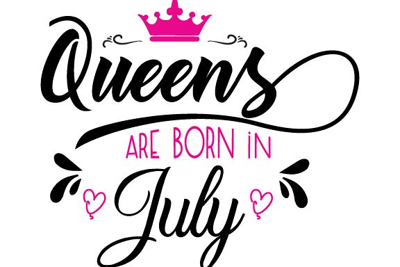 Queens are born in July Svg,Dxf,Png,Jpg,Eps vector file example image 1