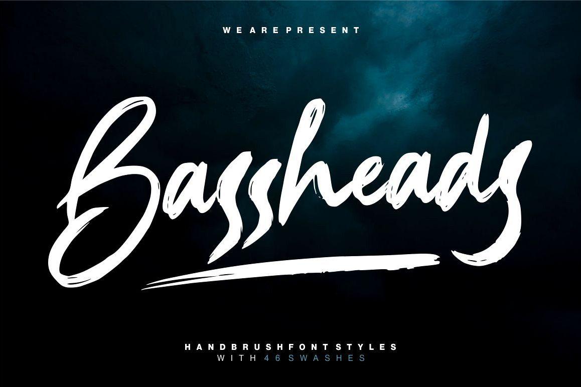 Bassheads - Handbrush Font example image 1