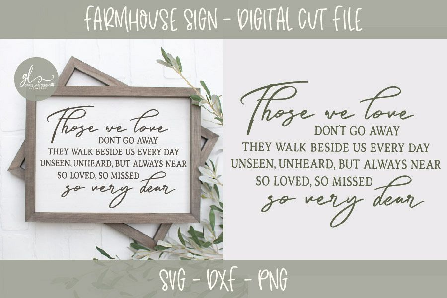 Those We Love Don't Go Away - SVG Cut File example image 1