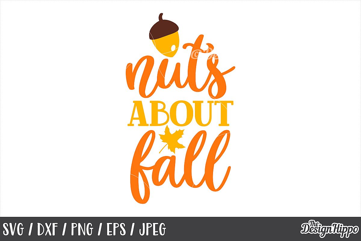 Nuts About Fall SVG, DXF, PNG, JPEG, Cutting Files, Cricut example image 1