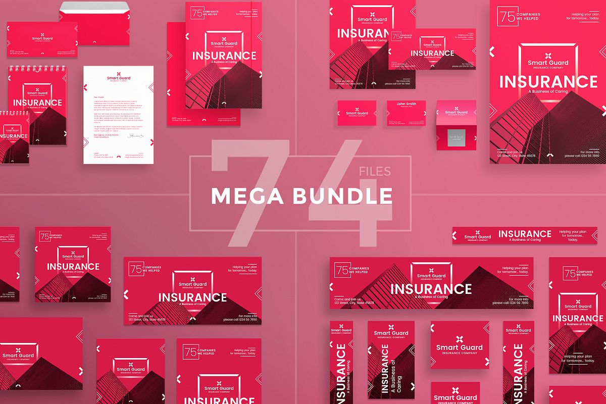 Insurance company design templates bundle insurance company design templates bundle example image 1 maxwellsz