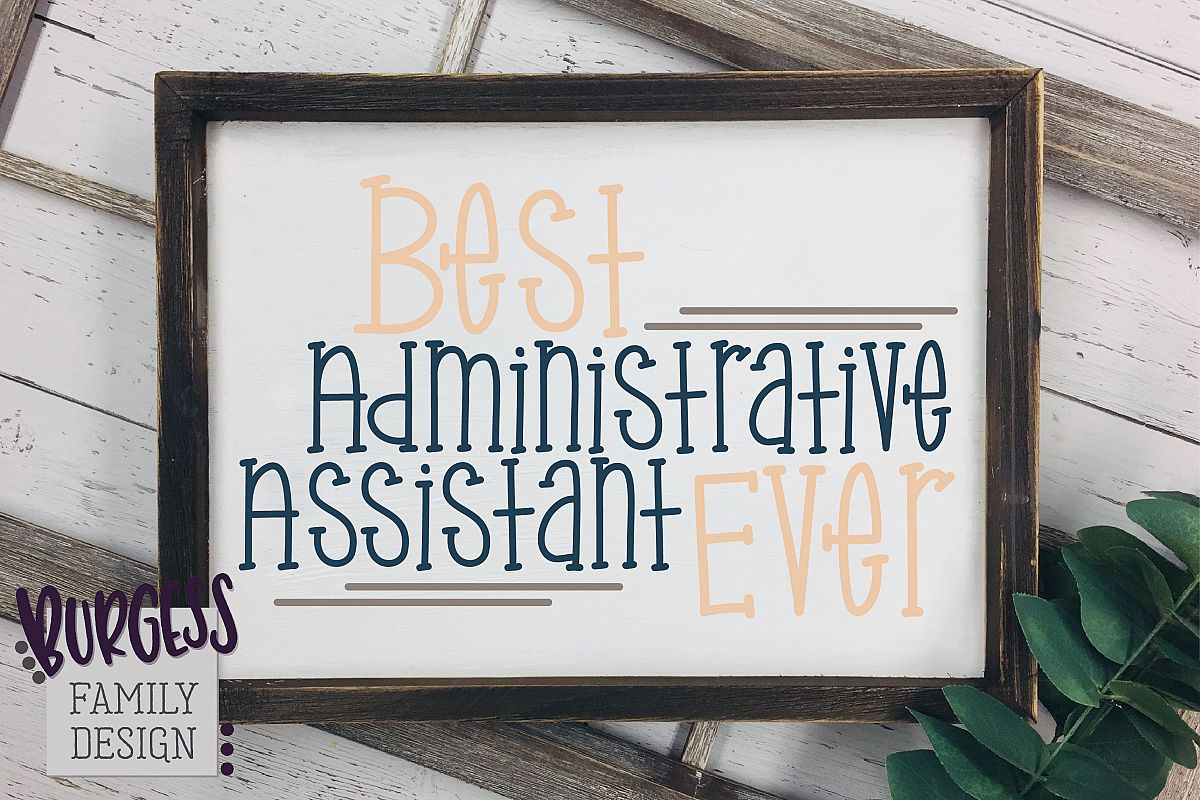 Best Administrative Assistant Ever | SVG DXF EPS PNG JPEG example image 1