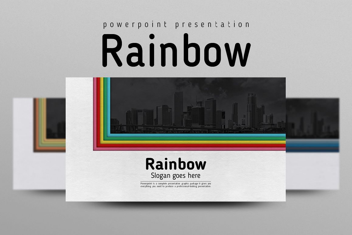 Rainbow PPT Template example image 1