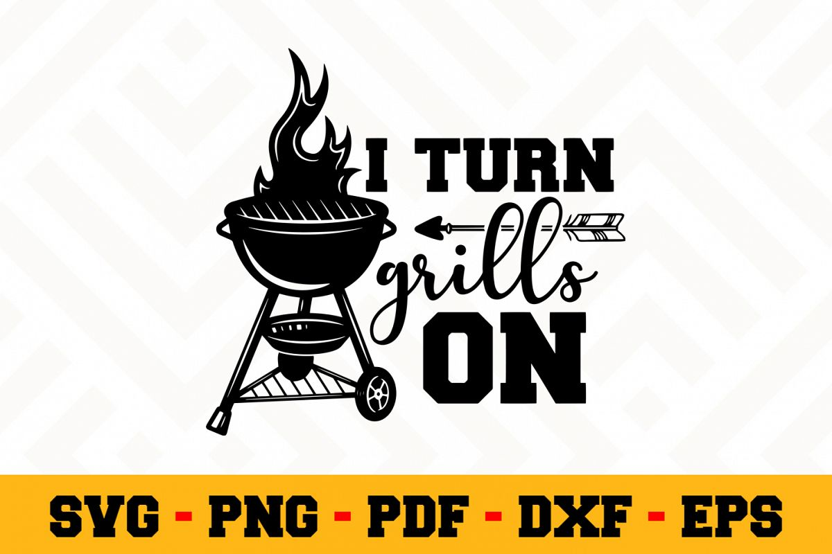 BBQ SVG Design n613 | Barbecue Grill SVG Cut File example image 1