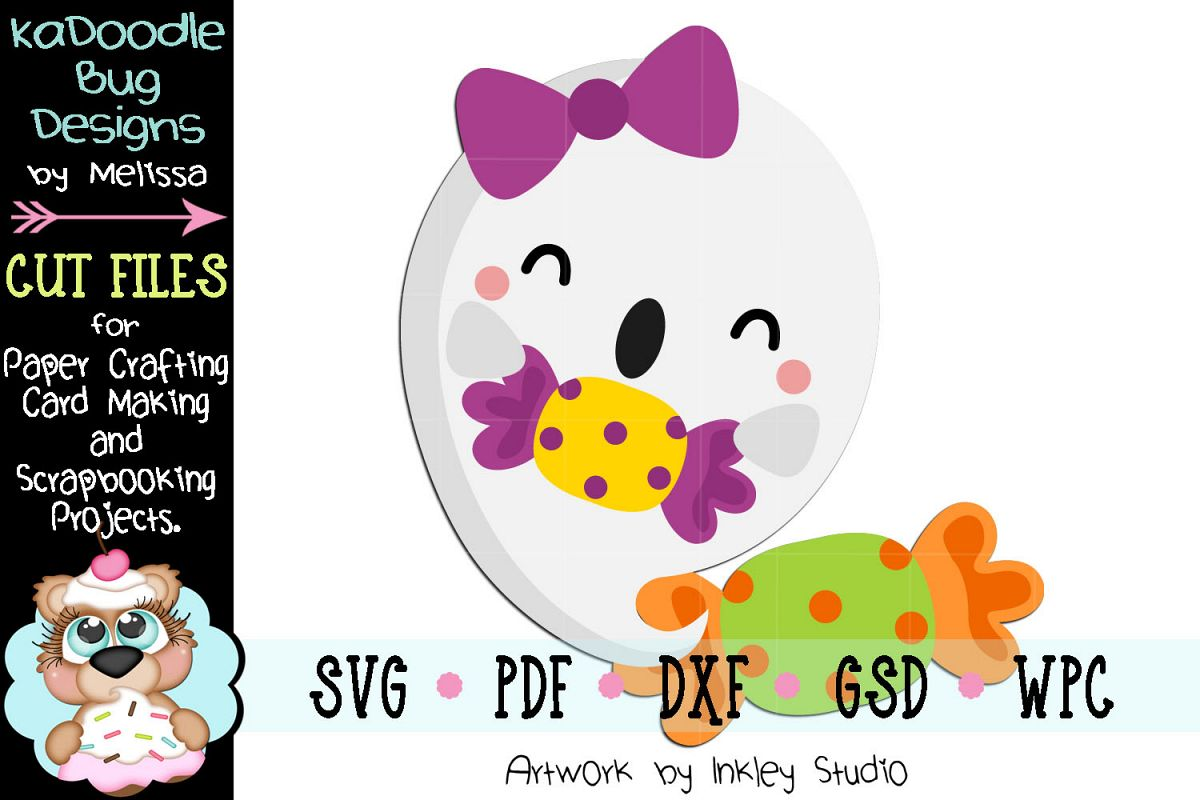Candy Girl Ghost Cut File - SVG PDF DXF GSD WPC example image 1
