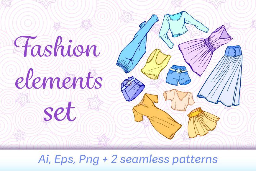 Fashion elements set example image 1