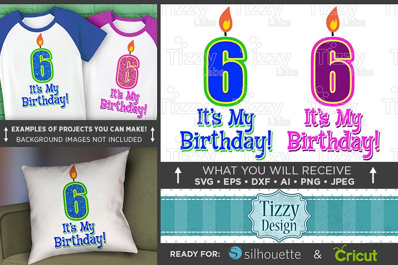 6th Birthday Svg - Its My Birthday SVG Birthday Shirt - 1033 example image 1