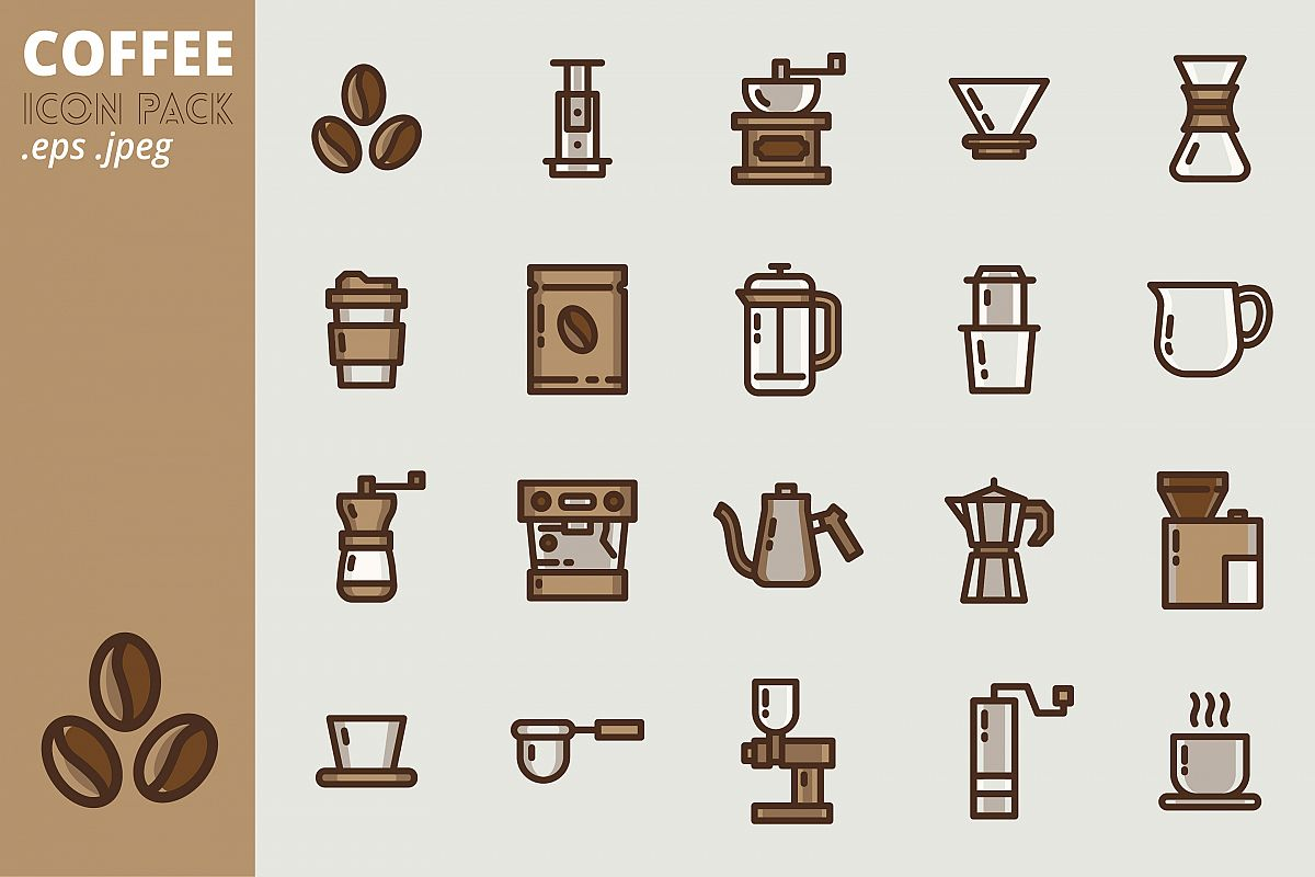 Coffee Icon Pack example image 1