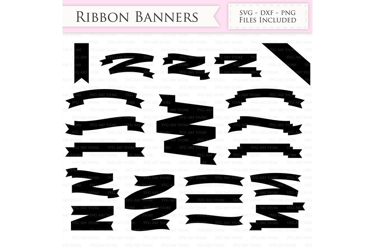 ribbon banners svg text banners svg cutting files cricut and