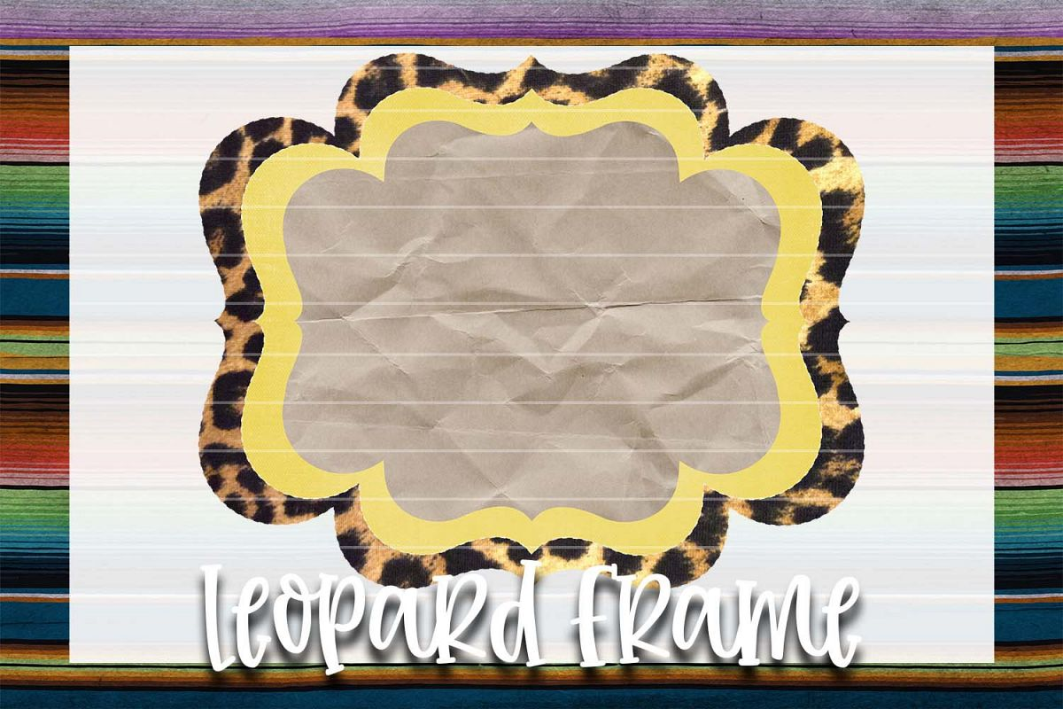 Yellow & Leopard Frame Background Element example image 1