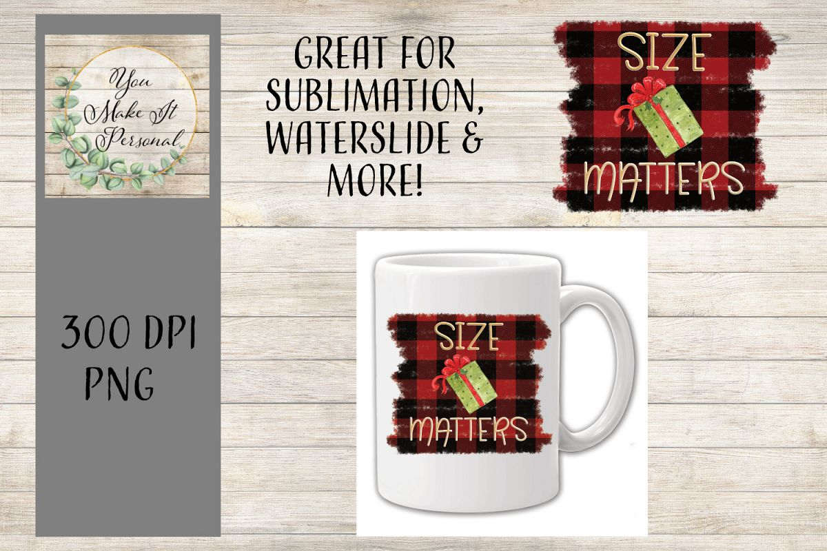 Funny Holiday Design, Size Matters, Christmas Package example image 1