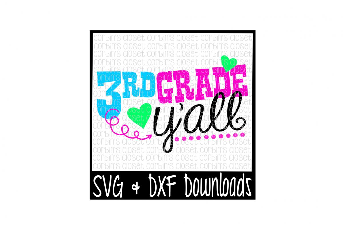 3rd Grade Y'all Cut File example image 1