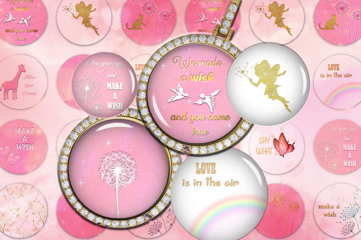 Make a Wish Digital Collage Sheet,Follow Your Dream,Digital example image 1