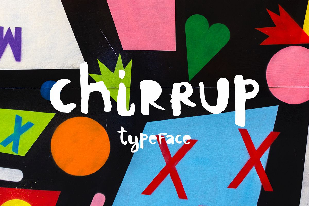 Chirrup Typeface - Hand Drawn Font example image 1