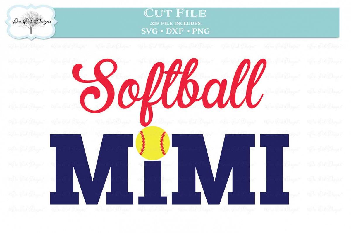Softball Mimi - SVG DXF PNG example image 1