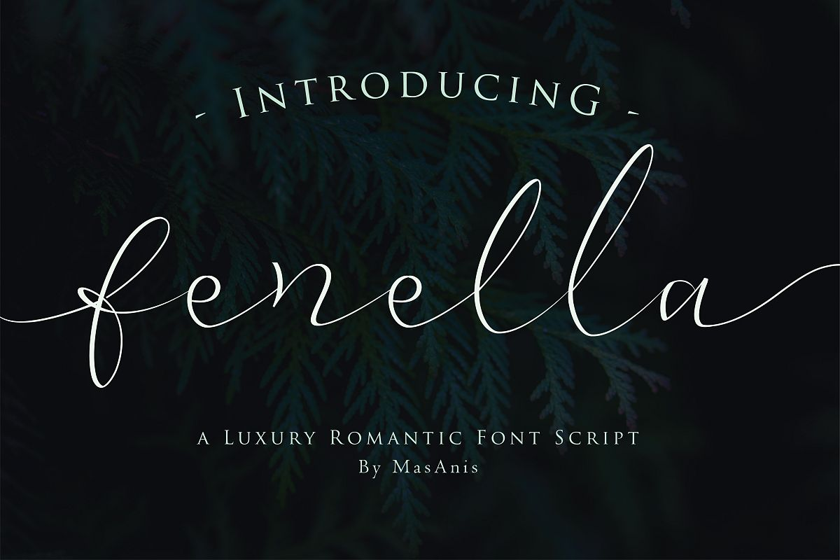 Fenella - Luxury Romantic Font example image 1
