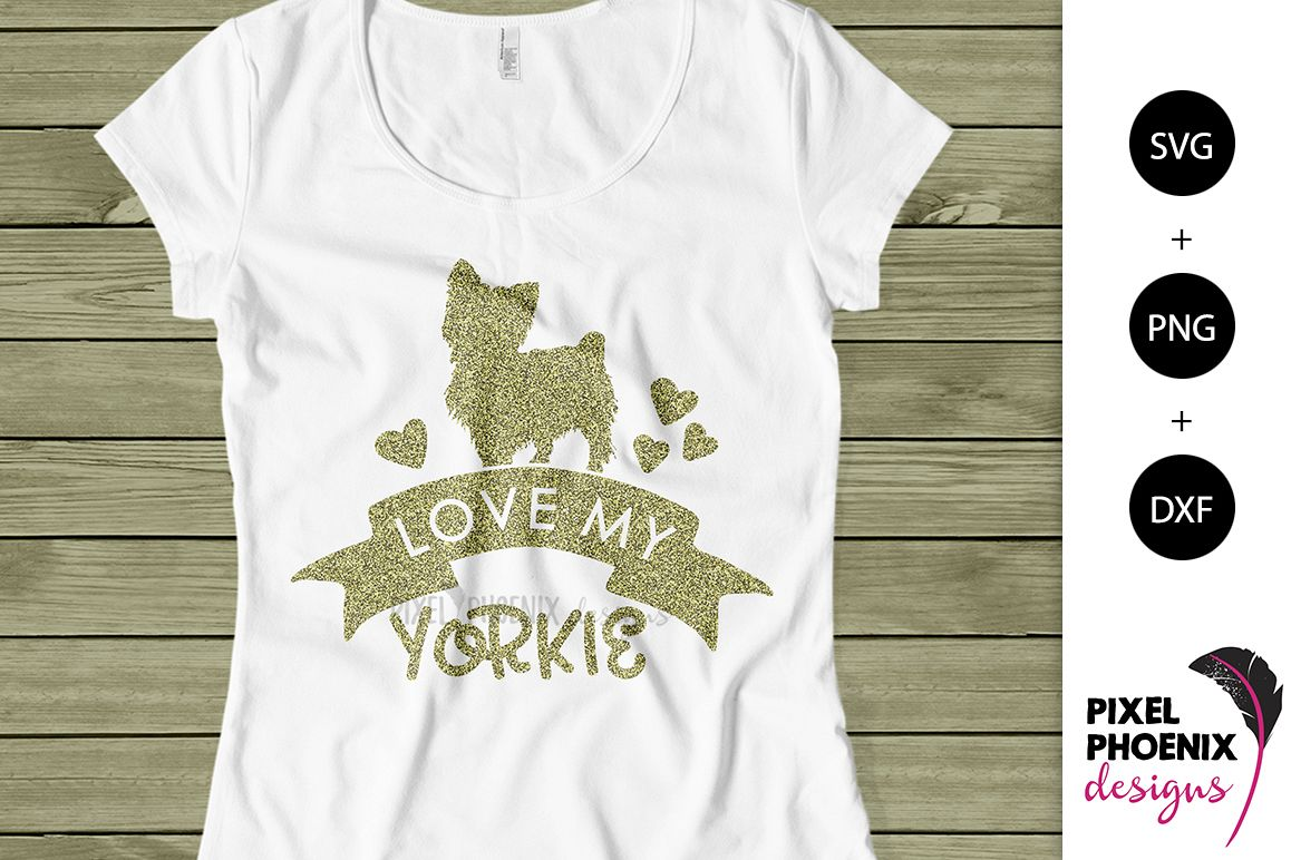 Love my Yorkie SVG example image 1