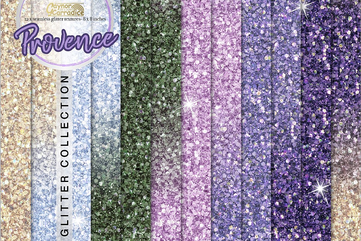 Provence- purple Glitter backgrounds example image 1
