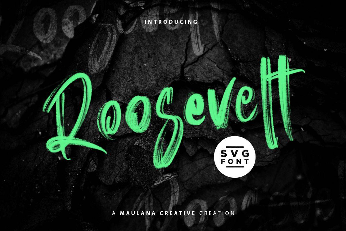 Roosevelt SVG Brush Font example image 1