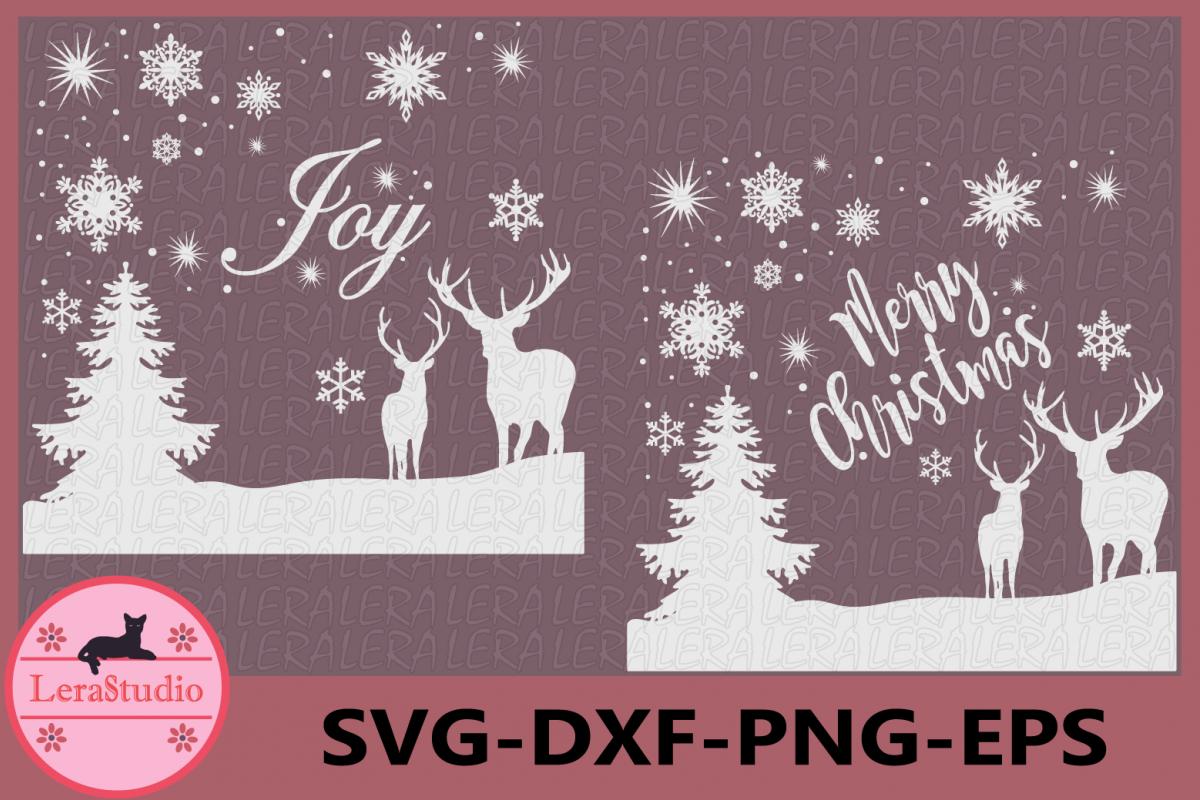 Merry Christmas SVG, Deer Svg, Deer Original Design, Deer example image 1