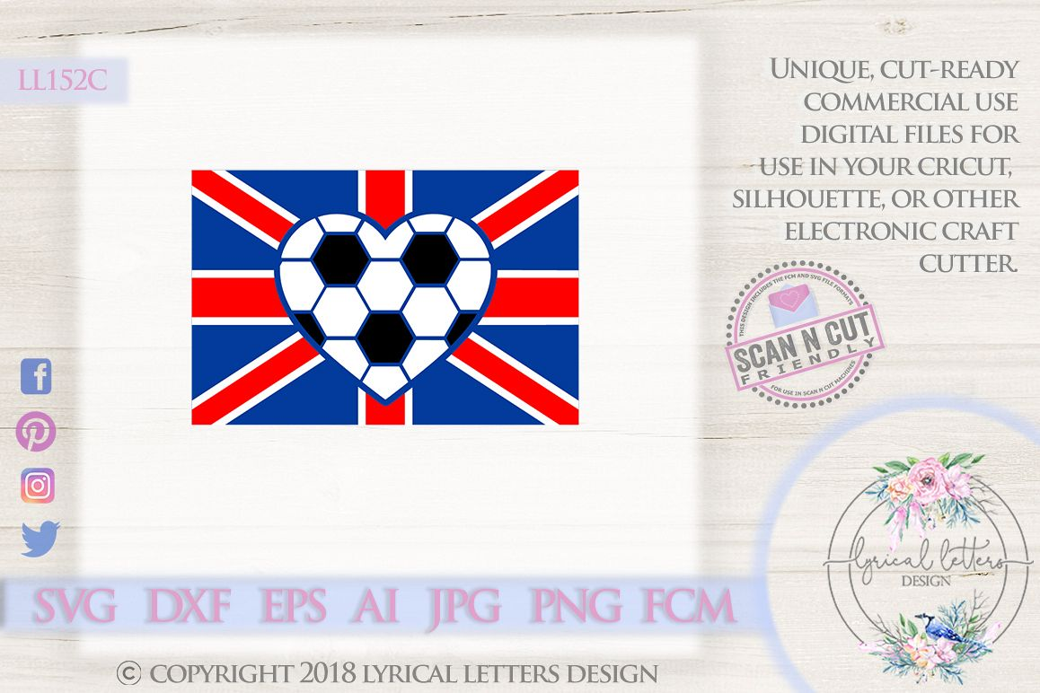UK British Football Flag SVG DXF Cut File LL152C example image 1
