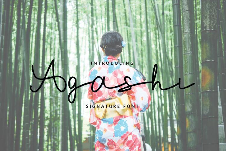 Agashi Signature Font example image 1