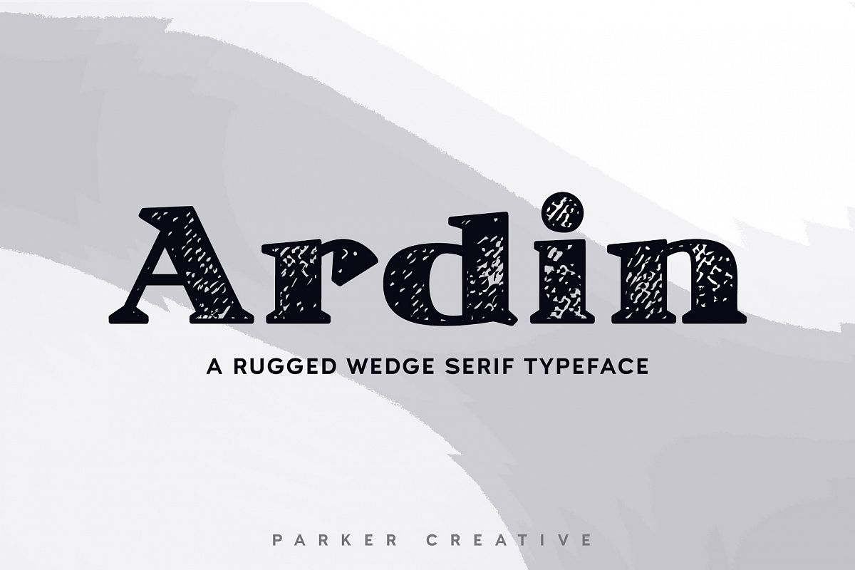 Ardin | Distressed Wedge Serif example image 1