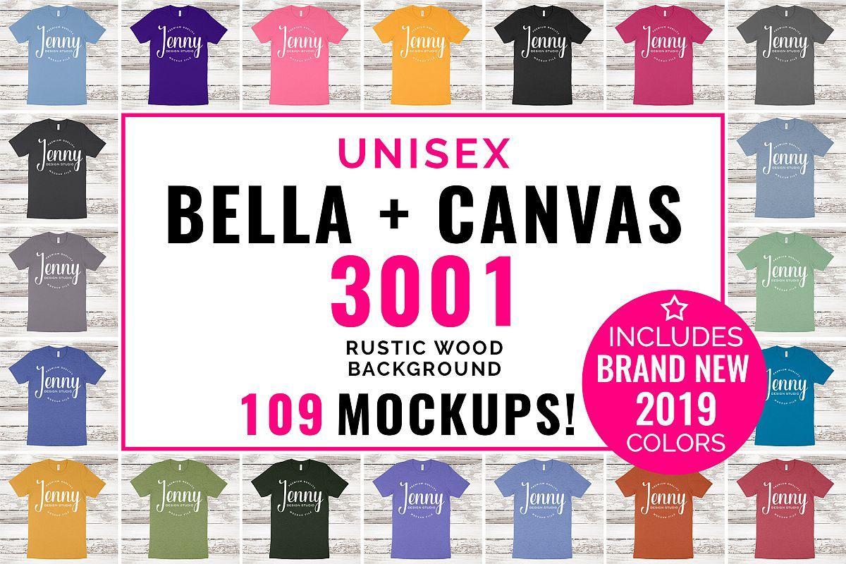 Bella Canvas 3001 Unisex Mockup Bundle, 109 Mockups example image 1