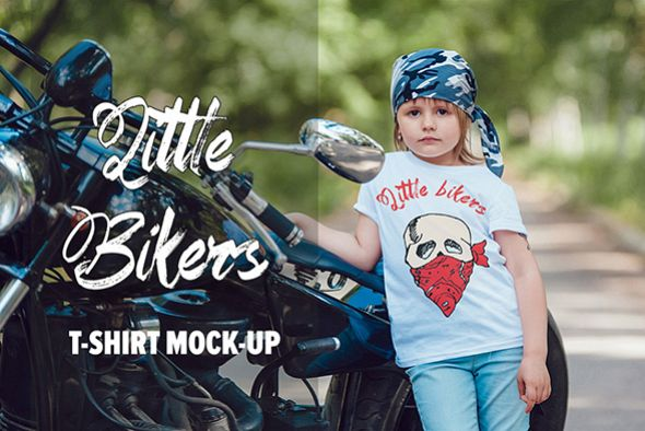Little Bikers T-Shirt Mock-Up example image 1