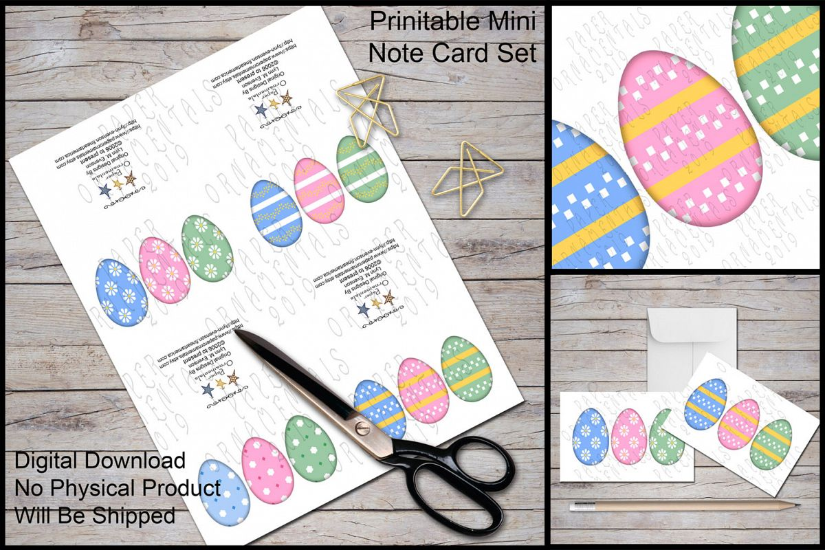 Note Cards, Easter Mini Gift Enclosure Cards Set 1 example image 1
