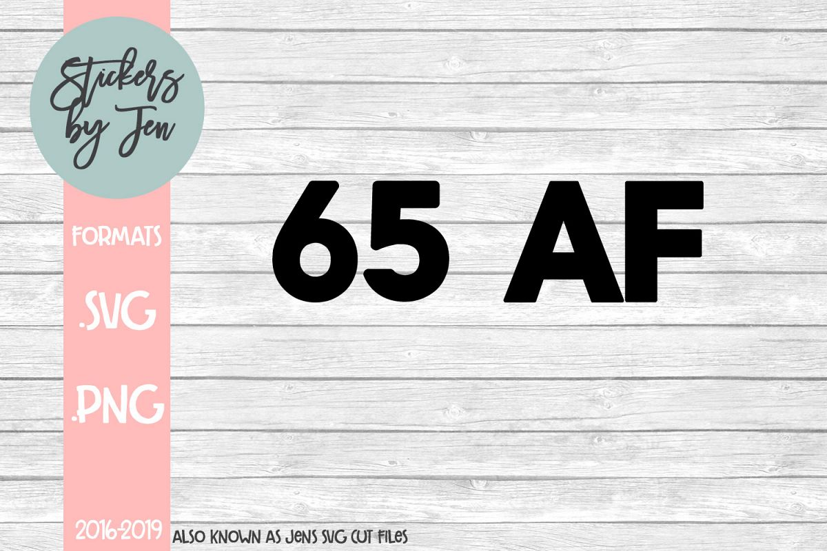 65 AF SVG Cut File example image 1