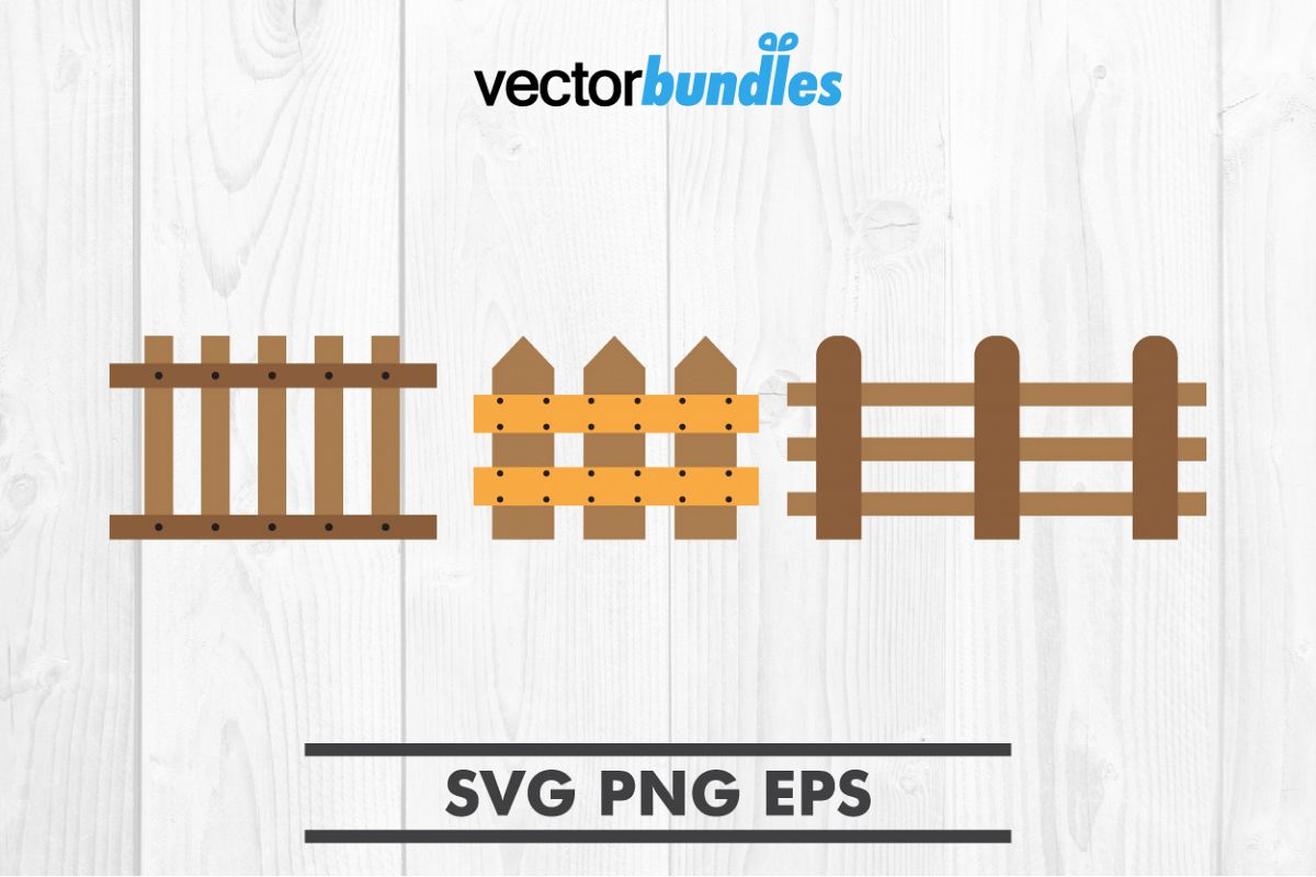 Wooden fence clip art svg example image 1